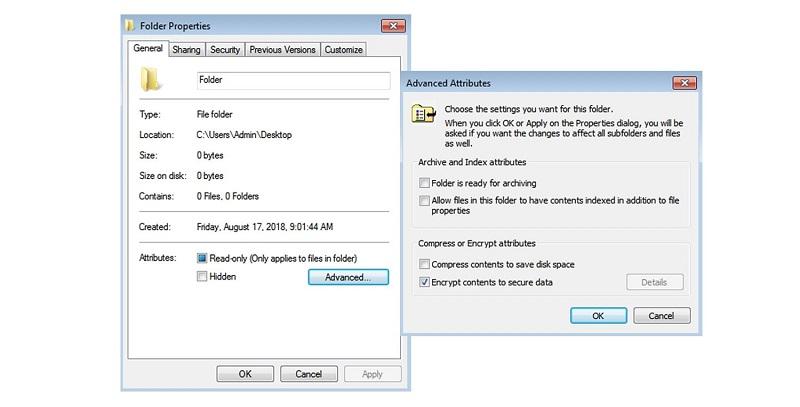 put a password to a folder