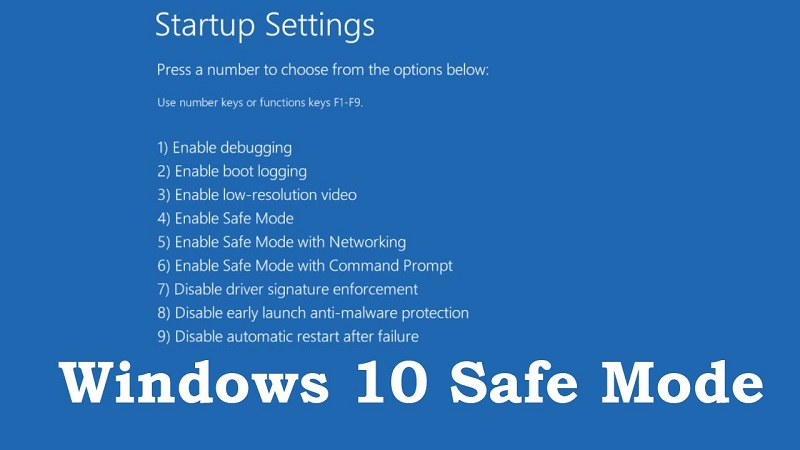 boot Windows 10 in safe mode
