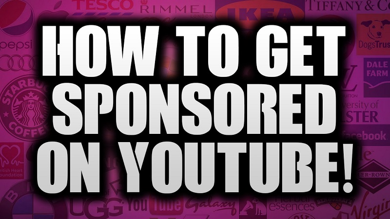 how to get sponsored on YouTube