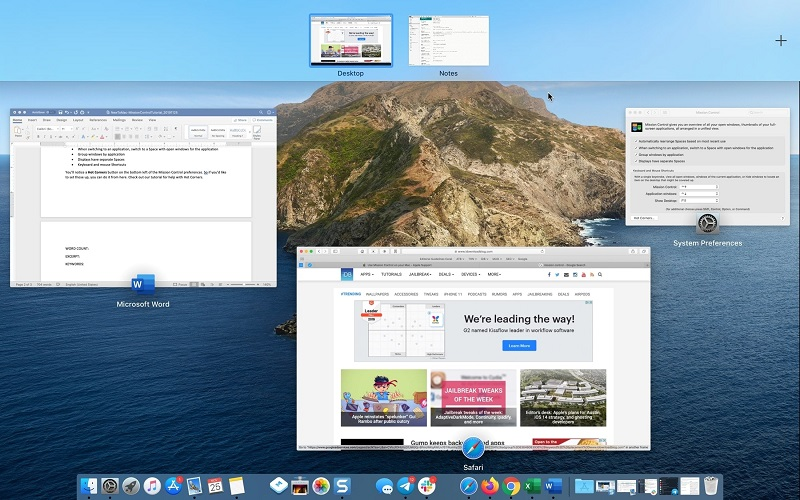 How to navigate the windows of the Mac