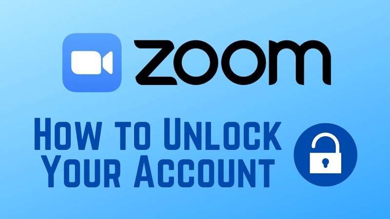 How to unlock zoom account