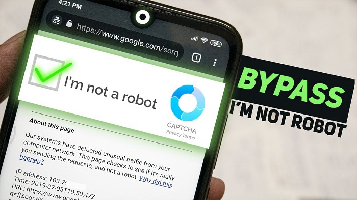 How to remove I'm not a robot