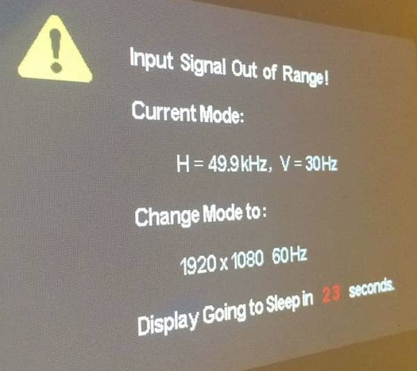 How to fix input signal out of range in computer